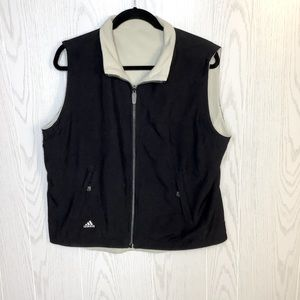 Adidas Black and White Reversible Outdoor Vest
